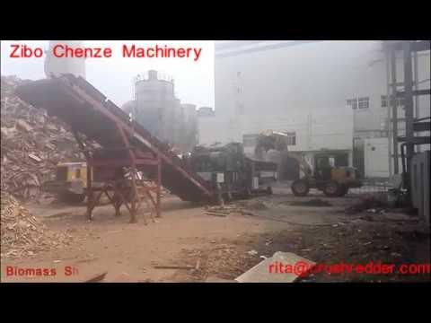 ZIbo chenze ZP series biomass grinding shredder wood waste chipper compilations