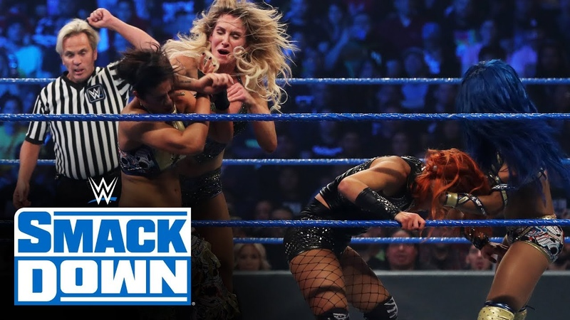 SBMKV Video Becky Lynch Charlotte Flair vs Sasha Banks Bayley SmackDown Oct 4 2019