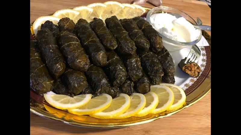 Новогоднее меню Армянская Толма в виноградных листьях   Թուփով տոլմա   Stuffed Grape Leaves Tolma