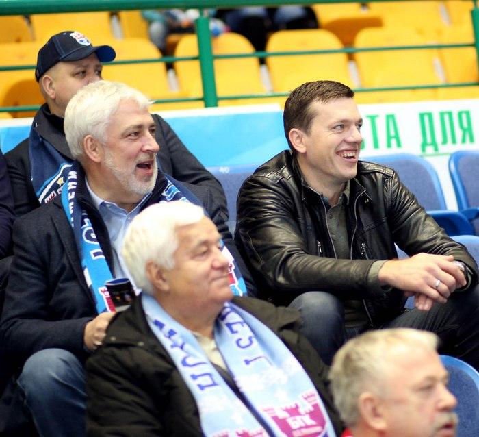 Александру Мешкову и Сергею Рутенко наблюдать за игрой было весело