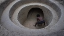 Build Underground Tunnel Swimming Pool And Secret Room With Ancient palm wine