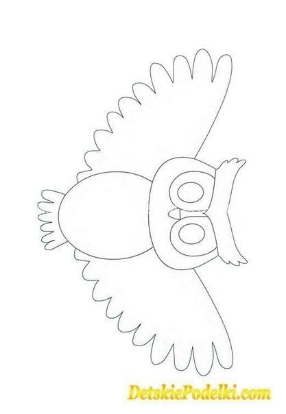 Аппликация Сова А вы знаете почему сов и филинов называют мудрыми птицами Потому что это и правда так. Еще древние люди заметили, что голова совы похожа на человеческую. Даже глаза расположены