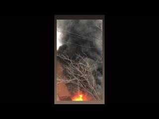 В центре Симферополя произошел пожар