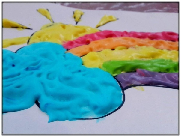 Объемные краски своими руками Нам понадобится: клей ПВА; пена для бритья красители.Просто смешайте в равных частях клей и пену. Останется добавить краситель (подойдёт как порошковый, так и