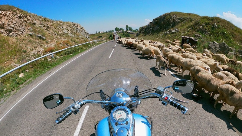 Путешествие на мотоцикле из Караганды часть 2 я Дорога в Иран Калмыкия Грузия Армения