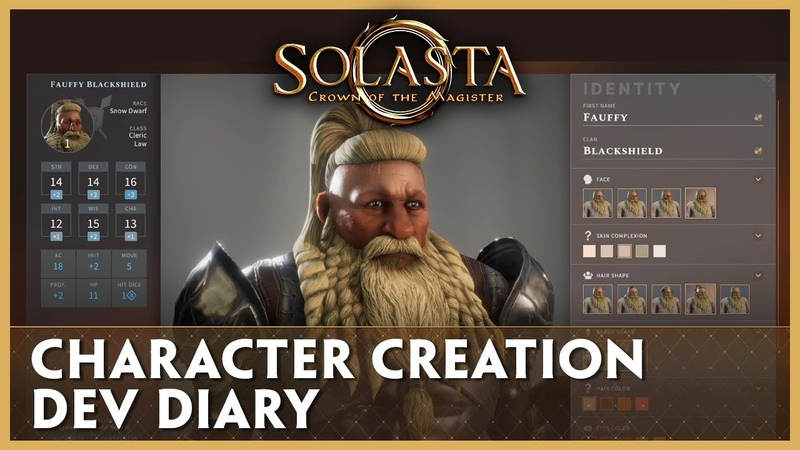 Dev Diary Character Creation Solasta Crown of the Magister