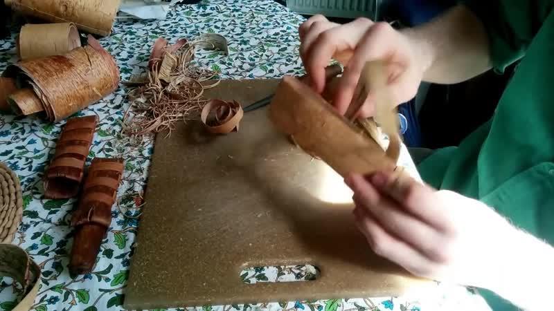 Birch bark knife sheath tutorial Учебник по ножнам из бересты