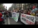Франция всеобщая забастовка! Сотни тысяч человек приняли участие во всеобщей забастовке во Франции!