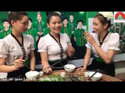 Gái thái ăn Nậm pịa Phân non dê châu Đặc sản dân tộc Thái