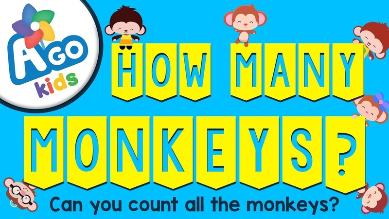 How Many Monkeys Counting and Prepositions Song BINGOBONGO Learning