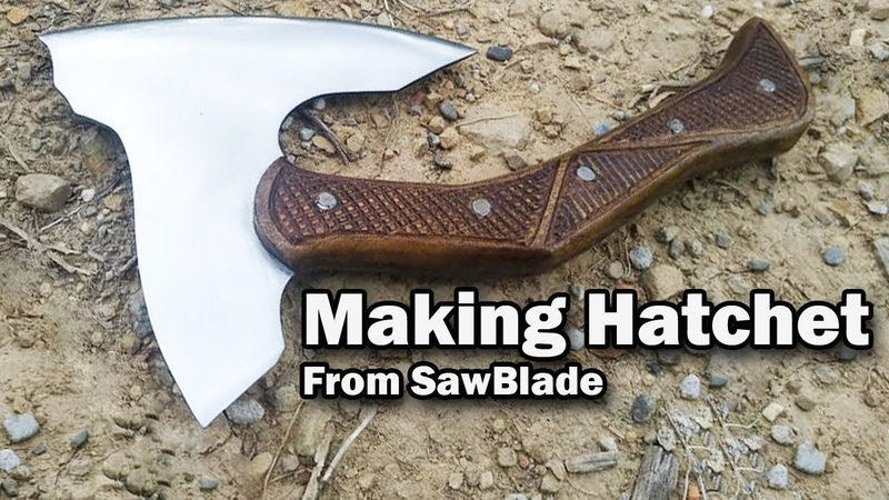 Making a Hatchet (Mini Axe) from Circular Saw Blade with PVC Sheath. Cara buat Kapak Mini.