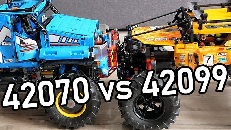 LEGO 42099 vs LEGO 42070 Better Crawler Technic 42099 Comparison video Offroader 42099 Test