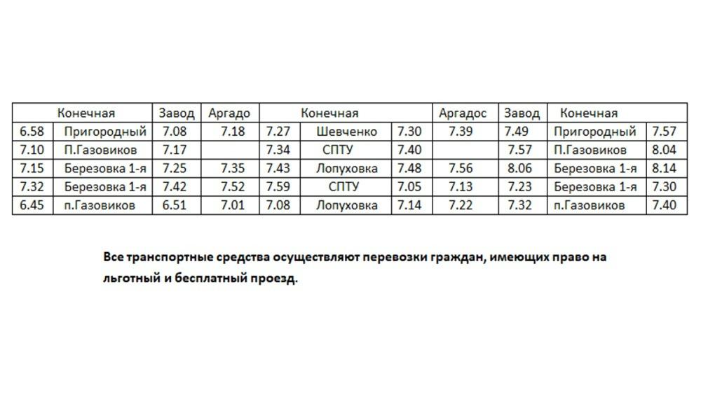 С 27 апреля Петровское автотранспортное предприятие обновляет график движения общественного транспорта по городским маршрутам