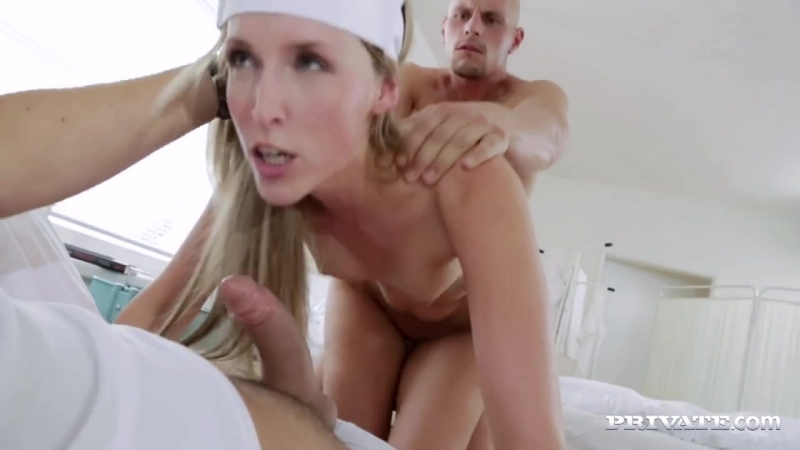 Private Jenny Simons Naughty Nurse Jenny Simons Treats Two Patients to all