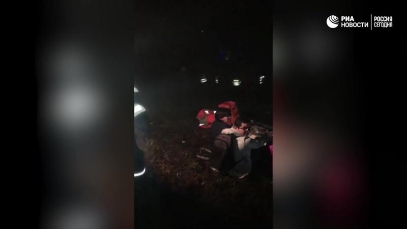 Поисково спасательная операция на месте крушения самолета в Колумбии