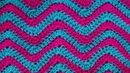 Ripple crochet pattern Узор Зиг Заг вязание крючком