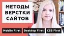 МЕТОДЫ ВЕРСТКИ САЙТОВ Mobile First / Desktop First / CSS First