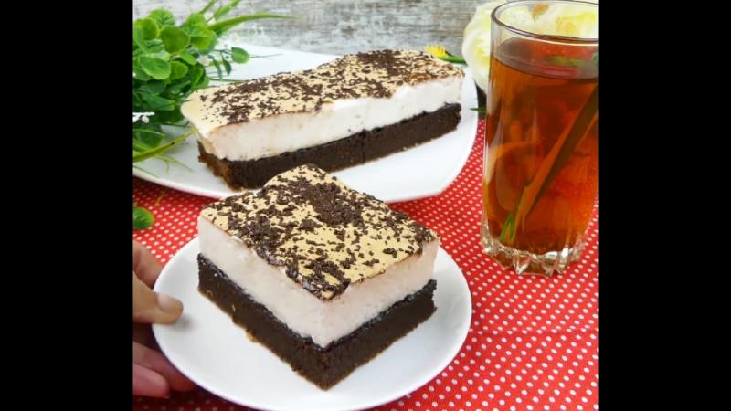 Воздушный шоколадный торт с безе ????