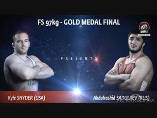 Снайдер  vs. Садулаев. Вольная борьба. Чемпионская схватка.