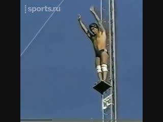 Сумасшедший прыжок с вышки. Ты никогда не решишься на такое