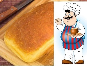 Хлеб «Домашний» Ингредиенты: -300 мл молока -7 г сухих дрожжей (или 30 сырых) -2 ч. л. сахара -3 ст. л. растительного масла (я использовала оливковое) -1 ч. л. соли -400450 г муки Приготовление:
