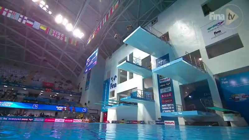 Men's 10m Synchro Ukrainian talent in 13-year old Oleksii Sereda who just miss