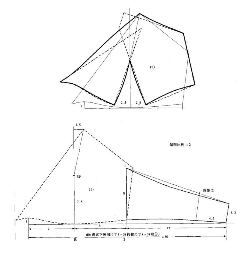 #Шьем_нижнее_белье: чертежи конструкций бюстгальтеров без косточек