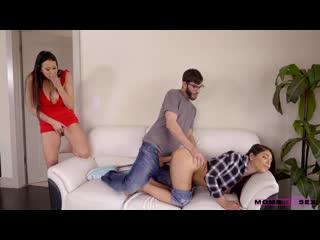 [MomsTeachSex / Nubiles-Porn] Gina Valentina, Reagan Foxx [порно, секс, минет, анал, жестко, нежно, трахает, сосет]