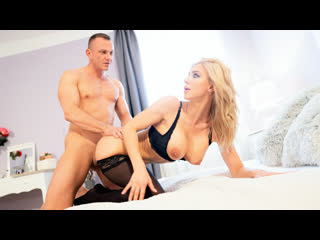 MomXXX Nathaly Cherie - Slow romantic fuck in stockings Cage NewPorn2019