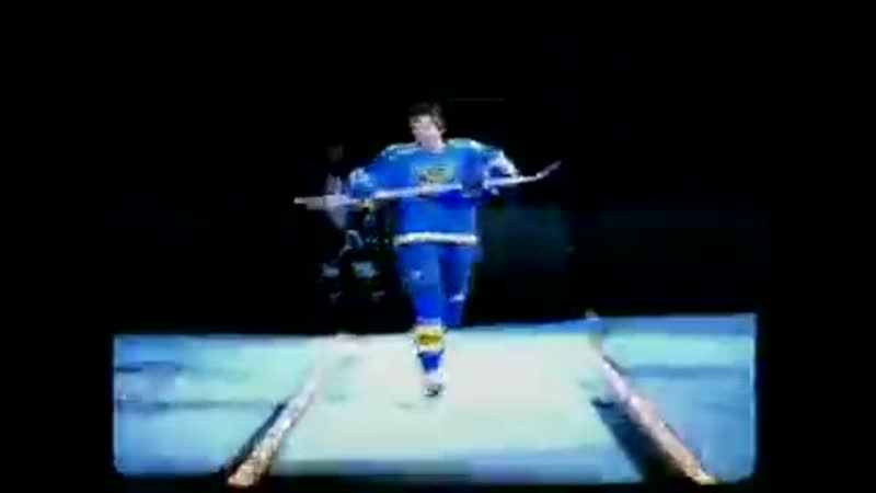 Chances of the St Louis Blues doing something like this today to reveal the new commemorative jersey