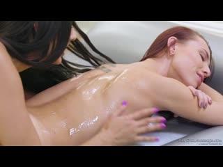Aidra Fox and Eliza Ibarra - Whats Nuru Gel [New Porn, Sex, 2019, HD, Massage, Lesbian]