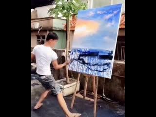 Очень эмоциональный художник