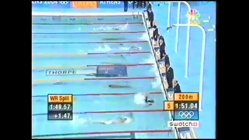 Плавание Мужчины 400 м Вольный стиль Финал Афины 2004 Олимпийские игры