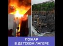 Последние новости о пожаре в детском лагере под Хабаровском — Москва 24