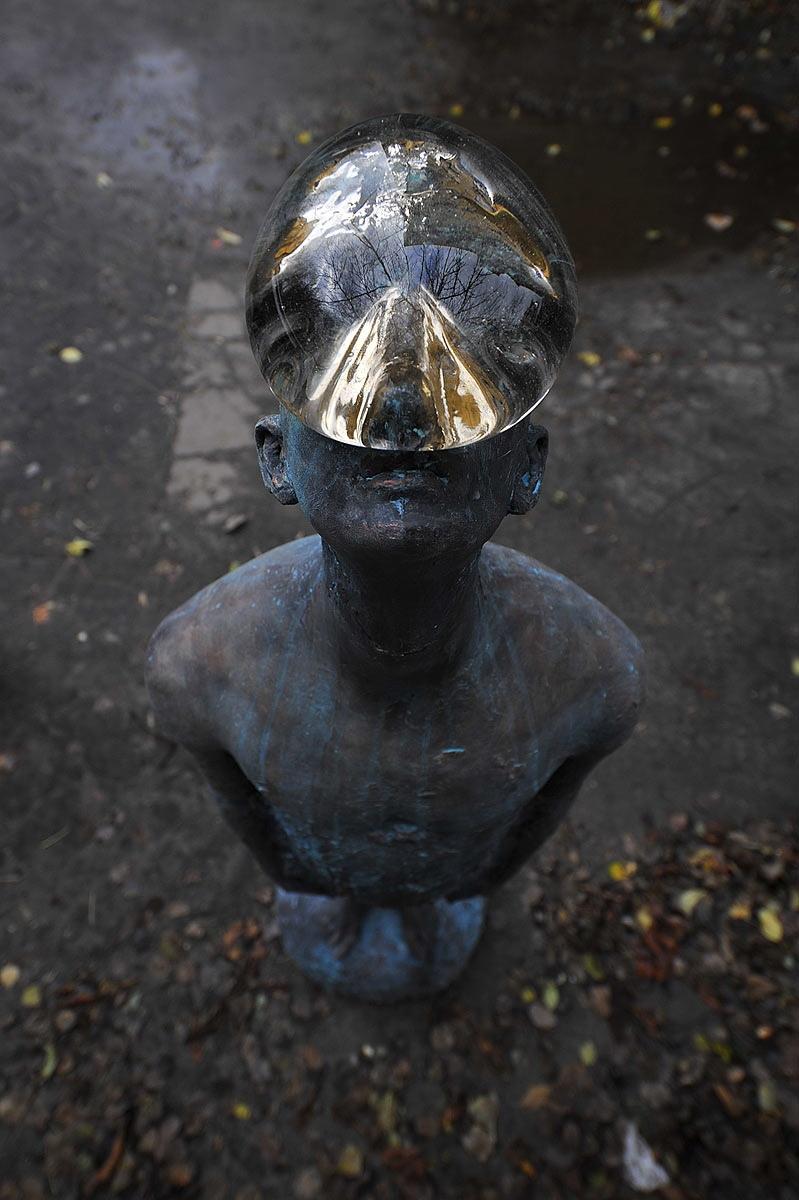 Скульптура «Дождь» украинского скульптора и художника Назара Билыка