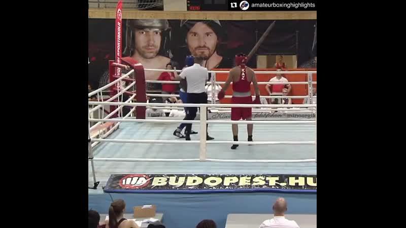 Кипиш на международном турнире среди юниоров между казахстанским и французским боксёрами