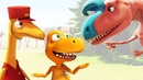 Мультик для детей про Поезд Динозавров. Большой город динозавров. Часть 4