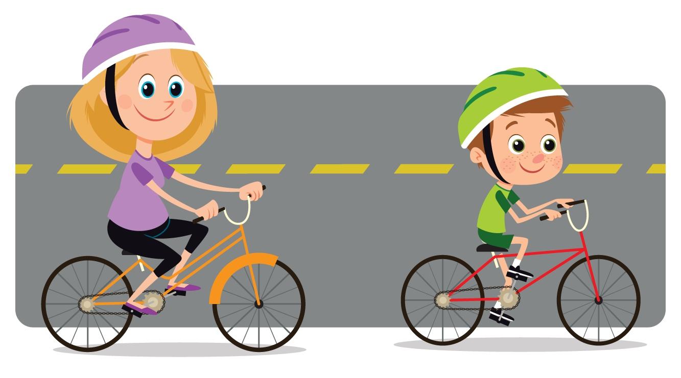 Картинки езда на велосипеде для детей
