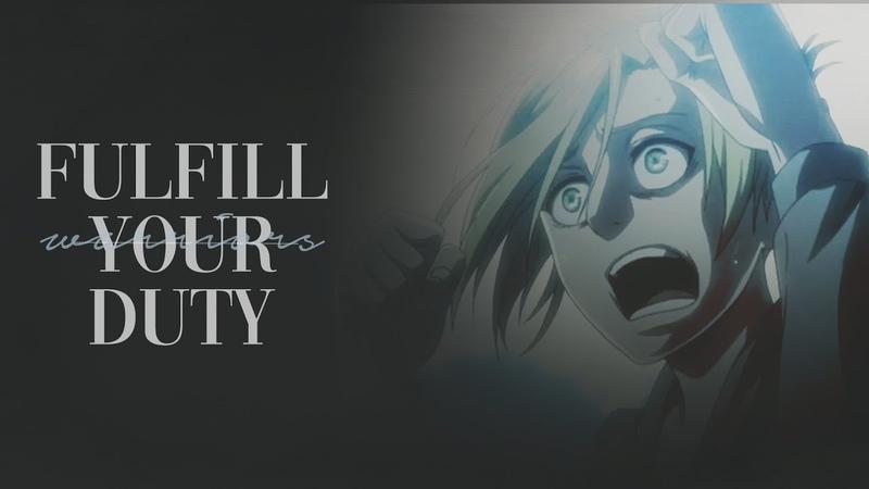 (AoT) Warriors - Fulfill your duty