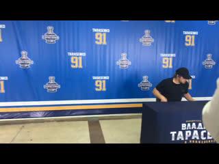 НГС-live:  хоккеист Владимир Тарасенко встречается с болельщиками в ЛДС Сибирь