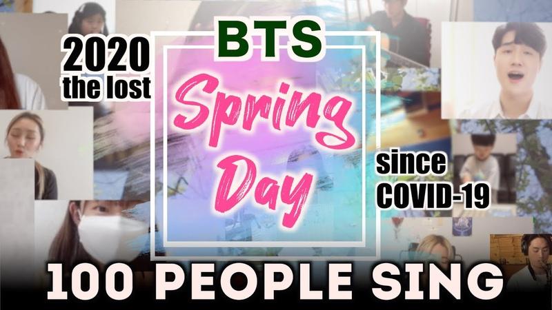 봄을 잃은 100명의 대학생과 시민들이 부르는 BTS(방탄소년단) Spring Day 봄날 Cover