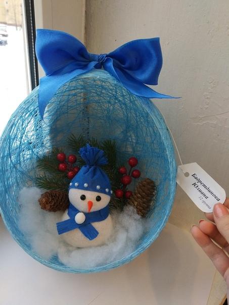 Поделка в садик Снеговик из носка)