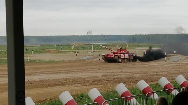 Т-72Б3, русский экипаж.