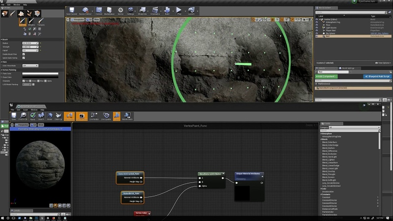 Setting Up A Basic Blend Material with Material Functions in Unreal Engine 4 Pt 2