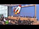 Halbe Welt brennt doch BPK Journalisten kennen fast nur ein Thema Deutschlands Weltraumbahnhof