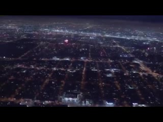 Los Angeles looking like Coruscant at the end of Return of the Jedi last night