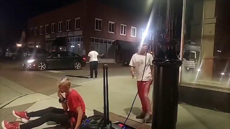 Big Thug Assaults 12 Year Old Kid Drives Away Like A Coward