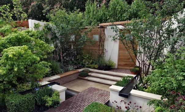 """Как """"заставить"""" маленький сад выглядеть больше  7 главных правил."""