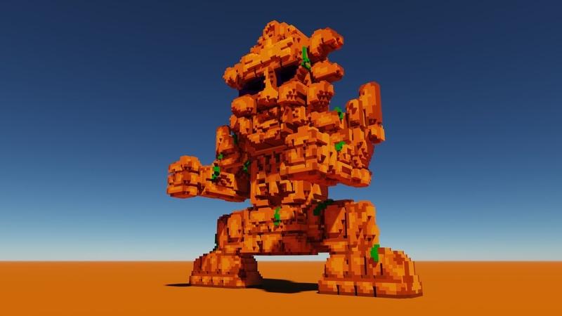 VoxelLapse Создаем Голема из игры Terraria Create a Golem from Terraria