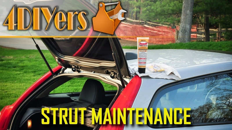 How to Clean and Lubricate Trunk Hood or Hatch Struts